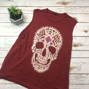 Urban Outfitters red sugar skill muscle tank S